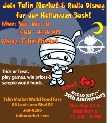 Join us on Halloween day!