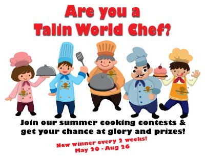 Are you a Talin World Chef? Take our cooking challenge!